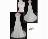 A9981 brilliant sleeveless fashion off-shoulder hot sell A line wedding dress