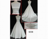 6236 newest designer satin weddinggown hot sell