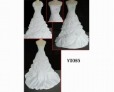 V0065 brilliant embroiderd beaded gunagdong design hot sell wedding gown