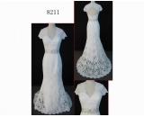 8211 fashion Guangdong latest hot sell cap sleeve wedding dress