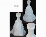 V8629 sexy transparent sweetheart neckline delicate customize wdding dress