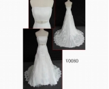 V0080 brilliant wedding gown embellish with pearl hot sell in guangdong