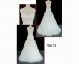 V0104 spaghetti strap layered corset closure wedding dress/bridal gown in hot sell with discount