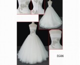 EG06 guangdong design netting ball gown A line hot sell wedding gown
