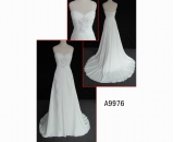 A9976 latest guangdong design wedding gown