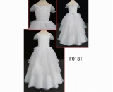 F0181 tiered beautiful newest flower girl dress