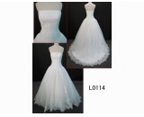 L0114 sleeveless fashion off-shoulder hot sell A line wedding dress