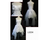 L0204 knee length customized hot sell wedding dress Guangzhou Panyu wholesale price bridal gown wedding dress
