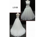 L0169 lace ball gown asymmetrical customized hot sell wedding dress Guangzhou Panyu wholesale price bridal gown wedding dress