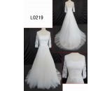 L0219 long sleeve lace A line customized hot sell wedding dress Guangzhou Panyu wholesale price bridal gown wedding dress