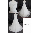 L0217 lace beading sleeveless A line customized hot sell wedding dress Guangzhou Panyu wholesale price bridal gown wedding dress