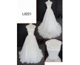 L0221 elegant lace beading A line customized hot sell wedding dress Guangzhou Panyu wholesale price bridal gown wedding dress