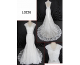 L0226 backless luxury lace sexy mermaid customized hot sell wedding dress Guangzhou Panyu wholesale price bridal gown wedding dress