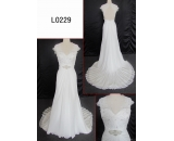 L0229 lace chiffion lace A line customized hot sell wedding dress Guangzhou Panyu wholesale price bridal gown wedding dress