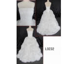 L0232 flower ball gown latest lace customized hot sell wedding dress Guangzhou Panyu wholesale price bridal gown wedding dress