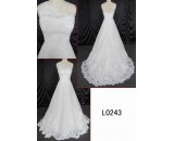 L0143 elegant customize lace beading guangdong wedding dress bridal gown