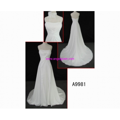A9981 brilliant sleeveless fashion off-shoulder hot sell A line wedding dress