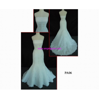 PA06 glamorous zipper back mermaid wedding gown in hot sell with discount
