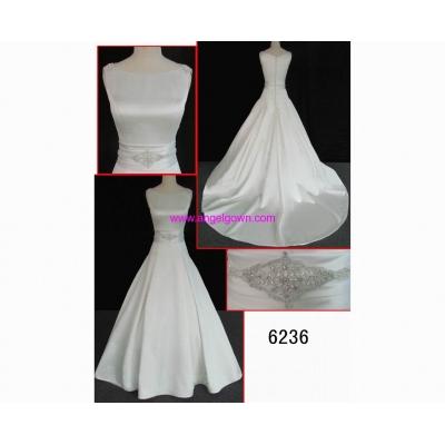 6236 newest designer satin weddinggown hot sell