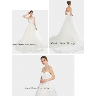 elegant sweetheart neckine lace wedding gown5