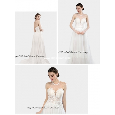 elegant sweetheart neckine lace wedding gown2