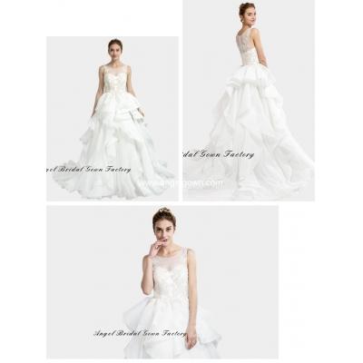 elegant sweetheart neckine lace wedding gown4
