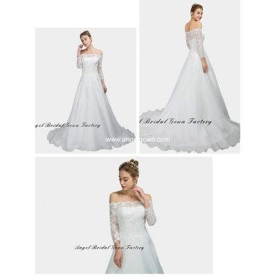 elegant sweetheart neckine lace wedding gown6