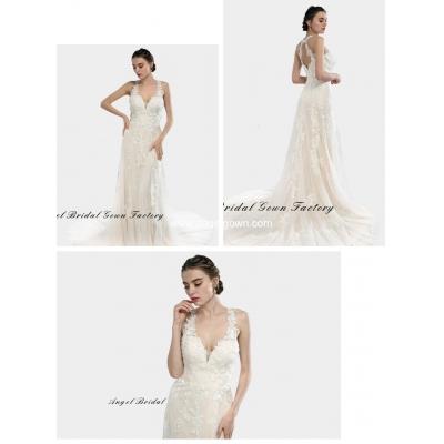 elegant sweetheart neckine lace wedding gown7